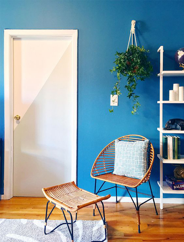 boho-botanical-room-with-door-and-wall-color-block