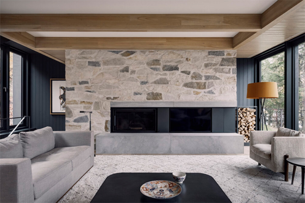 contempory-living-room-with-stone-wall