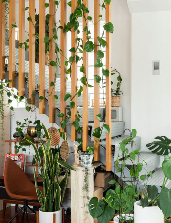 cool-wood-staircases-with-plants