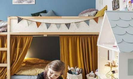 fun-kids-bedroom-with-doll-house