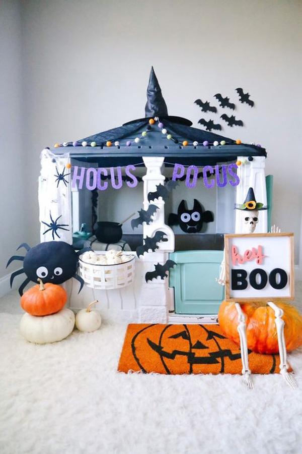 indoor-halloween-kid-playhouses