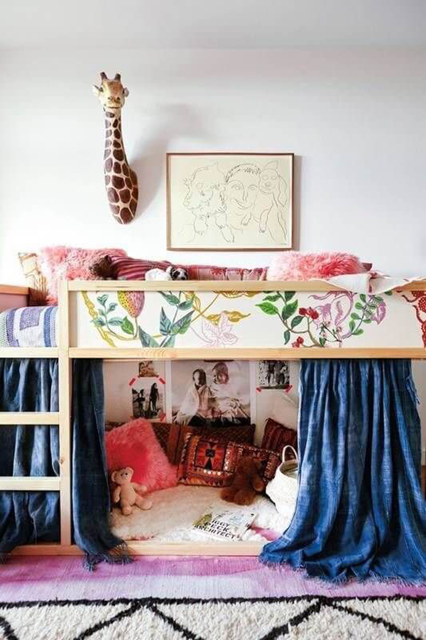 little-girl-bunk-beds-with-play-space