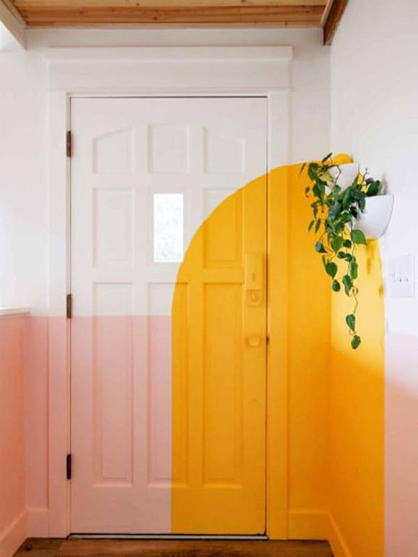 midcentury-door-color-block-ideas