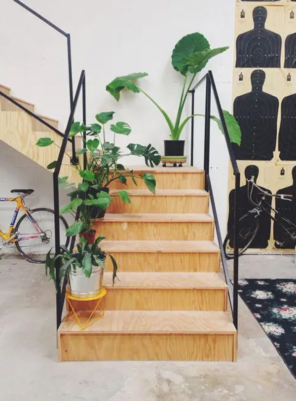 simple-wood-stairscase-with-houseplant