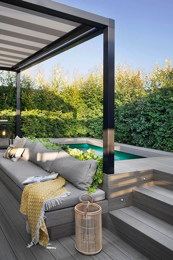 small-rooftop-pool-with-cozy-pergolas