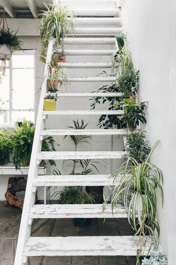 stylish-white-stair-design-with-planters