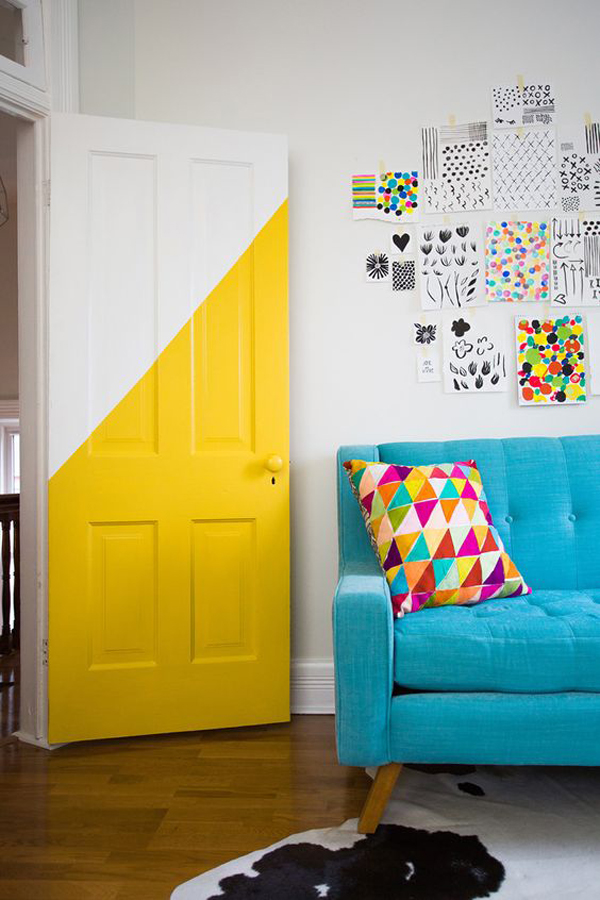 white-and-yellow-door-color-design