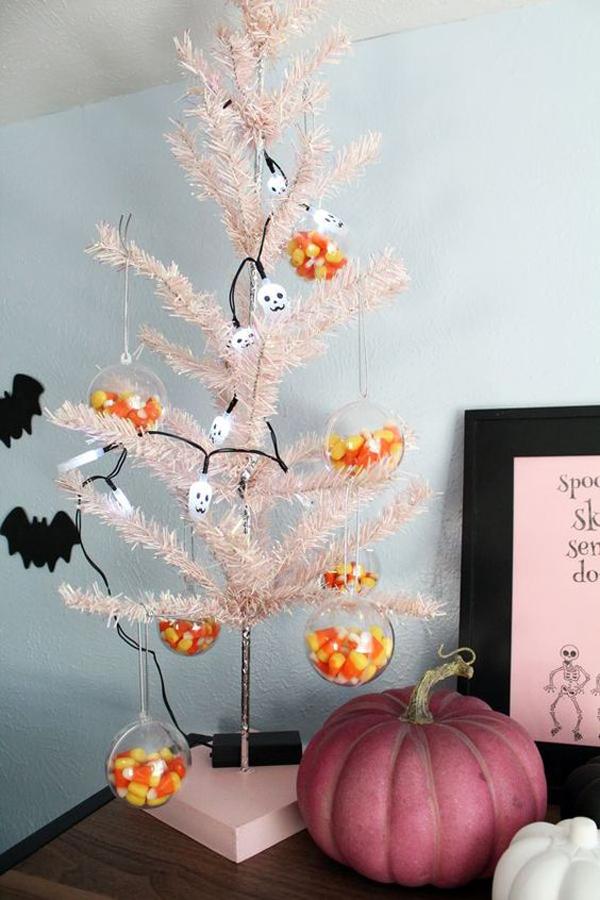 eclectic-pink-halloween-trees