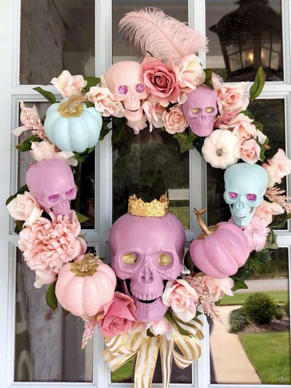 eye-candy-pink-halloween-wreath-door