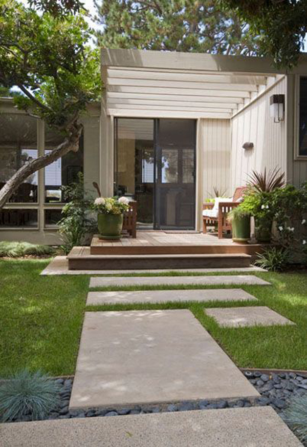 mid-century-modern-homes-with-entrance-landscaping