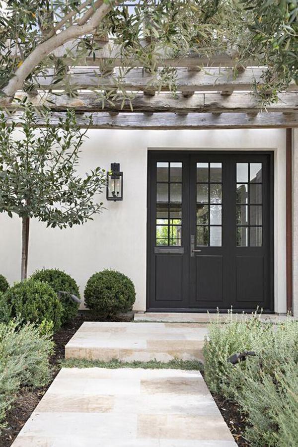 modern-entrance-design-with-garden-surrounding