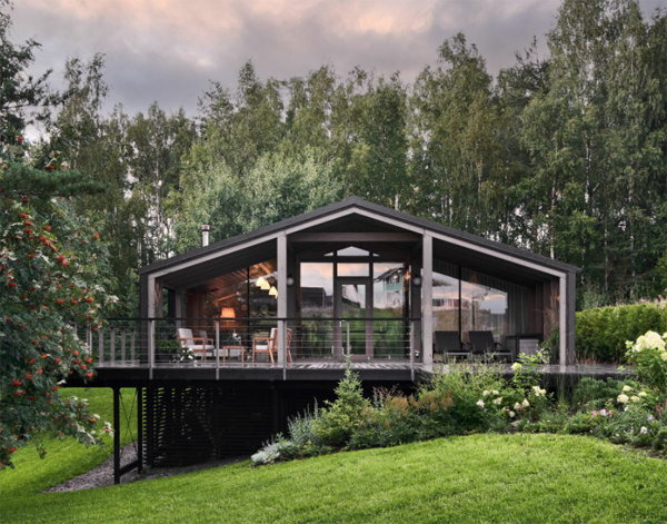 Modular Slope House With Open Living Space