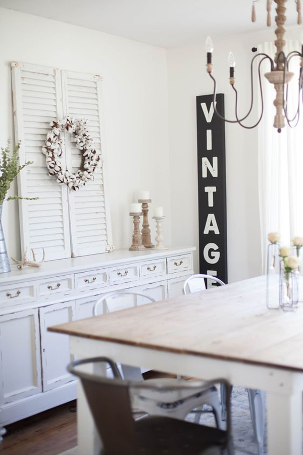 neutral-white-rustic-dining-wall-painting