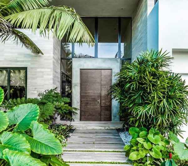 25 Awesome Entrance Design With Landscapes