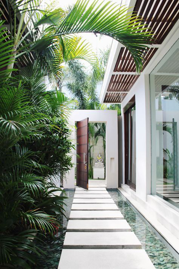 tropical-entrance-design-with-pond